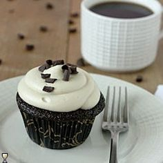 Mocha Cupcakes with Kahlua Frosting