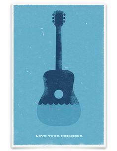 Love Your Neighbor: Nice concert gig poster