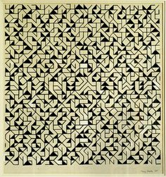 Mary Martin        Permutation, 1965        Pen and ink on paper