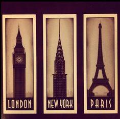 london & new york & paris