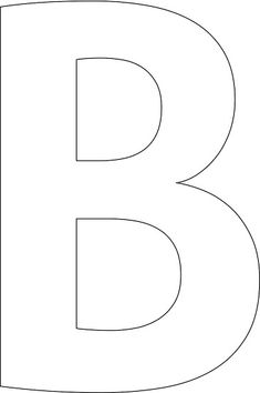 """Awesome free online tool! Make any words or letters you want for free. B"" stencil. Print, customize, or make your own free at http://RapidResizer.com/stencil (Aller_Bold font)"