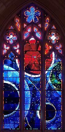 space window, Washington National Cathedral