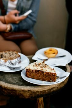 Carrot cake and coffee at The Barn in Berlin / photo by Lana Pribic