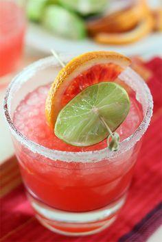 Blood Orange Margarita by @creativculinary !  O M Glory!