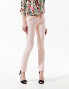 POP FABRIC CIGARETTE TROUSERS