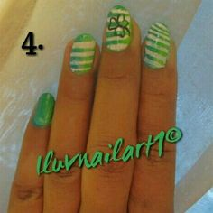 Stripes and Omber St.Patty's Day Nailart by ILuvNailart1 - Nail Art Gallery nailartgallery.nailsmag.com by Nails Magazine www.nailsmag.com #nailart