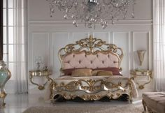 Gold And Silver Gold Leaf Bedroom Furniture - Classic Furniture and Classical interior Design Ideas