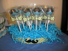 Little Man Mustache Cake Pops