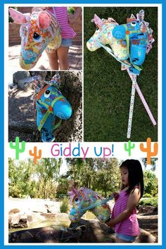 diy stick horse... Anderson can we make these and be cowgirls for Halloween?
