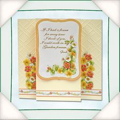 Flower soft card