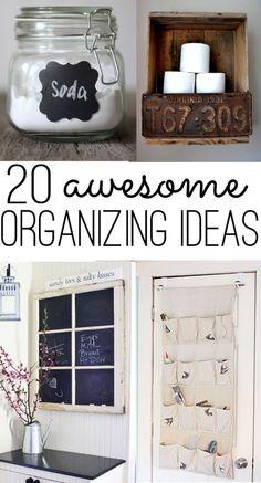 20 awesome organizing ideas