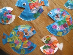ocean crafts, alphabet letters, fish crafts, kindergarten projects, paper plate crafts, rainbow fish, preschool letters, paper plates, construction paper