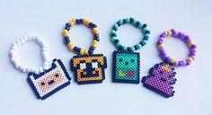 Adventure Time Perler Charm Kandi Bracelets  Set by PlanetRainbow, $14.00