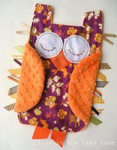 Owl taggie toy