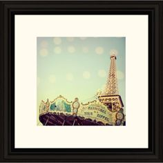 Paris carousel framed print