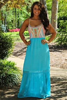 Summer Jam Maxi Dress $54.99 #SouthernFriedChics