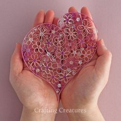 Paper quilling heart design - how to assemble