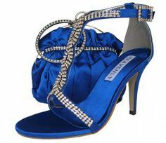 Royal Blue Evening Sandals #eveningshoes # weddingshoes #ladiesshoes #heels