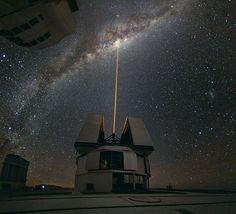 Laser, Milky Ways center.
