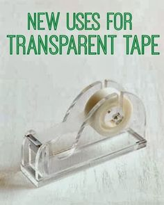 New Uses for Transparent Tape | www.inspirationformoms.com #sixonsaturday #newusesforthings #tape