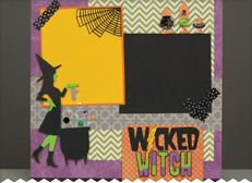 We love this Wicked Witch layout using the NEW A Frightful Affair cartridge! #Cricut #Halloween
