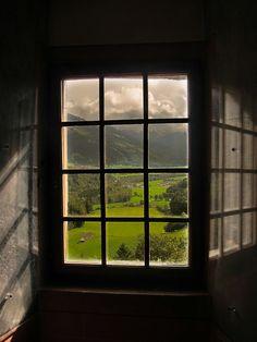 Valley View, Chateau de Gruyere, Switzerland  photo via melanie