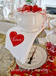Adventures in Decorating: Our Valentine Kitchen Tour