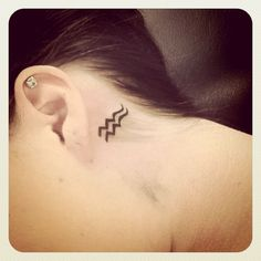 Aquarius tattoo. I would get this on my neck, probably or behind one of my ears. Maybe even on the inside of my index finger