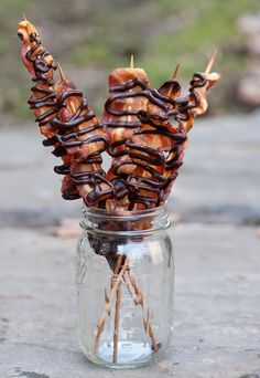 Maple Chocolate Bacon Skewers - Framed Cooks