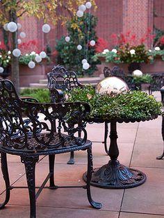 Outdoor Christmas decor.