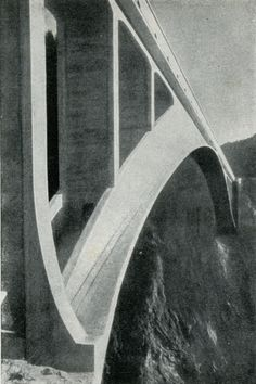 Bridges by Swiss engineer Robert Maillart in a book by Swiss Bahuaus typographer Max Bill - 1934