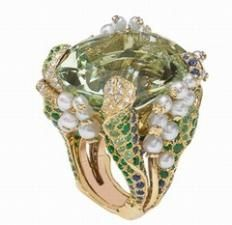 Christian Dior Lily of the valley ring
