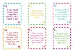 Childhood 101 | Free printable family conversation cards