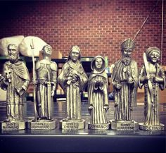 Get your heavenly army mobilized with our new miniature saint statue collectibles in solid pewter.