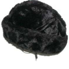 1960 black faux fur Unisex  Failsworth by Cherrybombsvintage, $25.00