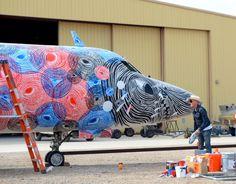 graffiti painted world war II military planes
