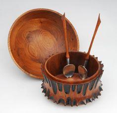 Turned wood salad bowls at Florida Craftsmen Gallery, St. Petersburg - Lori Ballard