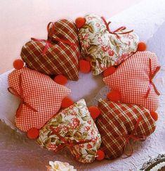 Natal para sonhar: Enfeites de natal em tecido.