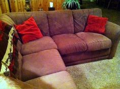 Erin's couch after cleaning - like new again!