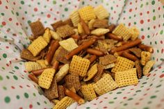 Remember the original chex party mix from the 80's? It's addicting!!