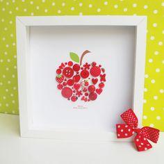 teacher gifts, idea, craft, big apple, a frame