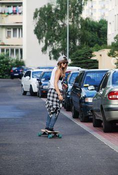 heart, skater girl, weight loss, outfit, girl weightloss, skateboard girl, longboard, girl skate, skate girl