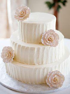 wedding planning ideas, fondant, vintage wedding cakes, weddings, purple flowers, simple cakes, white buttercream, small cakes, rustic wedding cakes