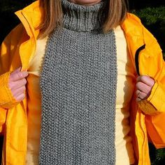 Seed Stitch Turtleneck Scarf FREE, what a great idea...