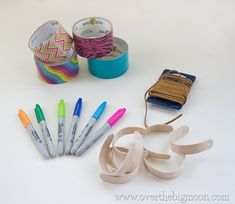 craft stick bracelets. I have this pinned already from another source, so two versions to assimilate.