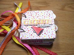 Cheerleader Premade Mini Scrapbook Album by HampshireRose on Etsy, $25.00