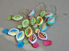 tropical leaf earings