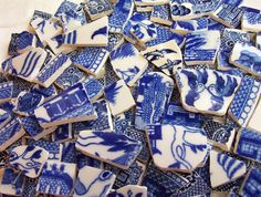 blue willow china tiles