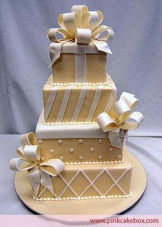 Gift Box Wedding Cake by Pink Cake Box