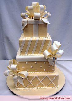 Gift Box Wedding Cake by Pink Cake Box